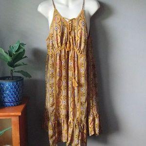 Boho hippie Amber orange gold dress